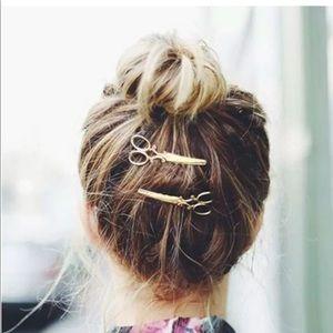2 Piece Scissors Hair Clips